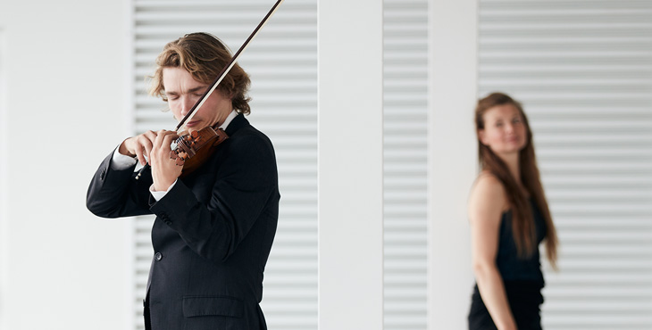 Jeroen Dupont, violin - Tatjana Neufeld, piano. Photo by Eduardus Lee