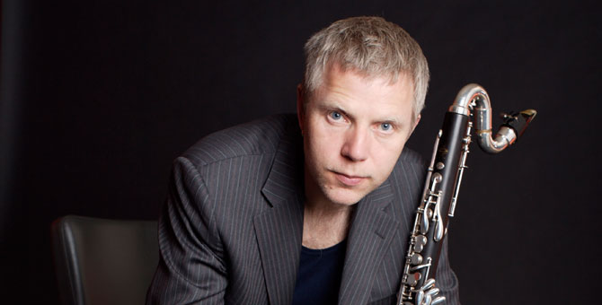 Theo Nabicht with bass clarinet